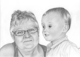 A Granny and her Grandchild by SparklingR