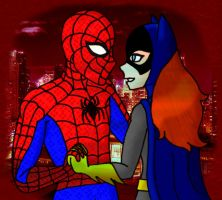 Spider-Man and Batgirl by Dragon-Wing-Z