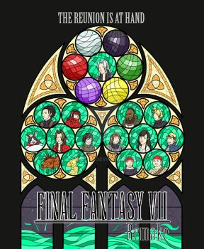 Final Fantasy VII Remake Stained Glass by Kaja-tan