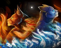 Fire and Ice by TheWisestDino