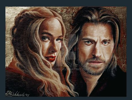 Cersei and Jaime Lannister by mandygeo
