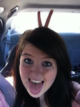 My sis gave me bunny ears lol by allikat23