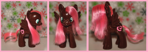 Chocolate Swirl custom pony by Frootsalad