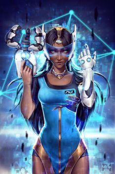 Overwatch Symmetra Fanart by Kate-FoX