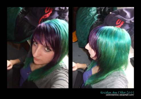 Blue and purple hair by ox0kristen0xo