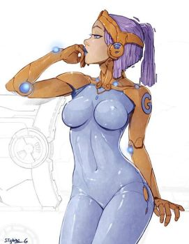 Android-G work in progress by StyloideIllustration