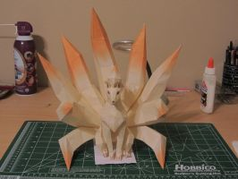 Ninetales Papercraft 1 by moosher12