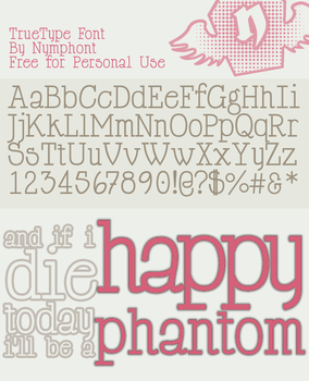 Happy Phantom Font Family by nymphont