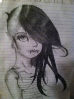 Attempt at drawing Marceline by Obscuriousity