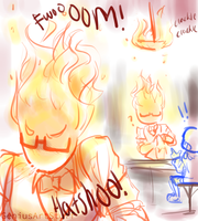 When you set the restaurant on fire by GeniusArtStuff