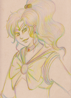 Sailor Jupiter rainbow colored pencil by About12Kittens