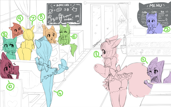 maid cafe YCH auction by Nyvokarts