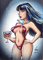 Daily Sketchs: Vampirella week 2 by mainasha