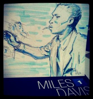 Miles Davis Sketch by Pulce90