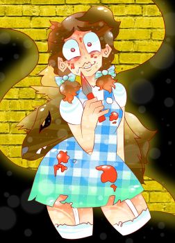 Twisted Fairy Tale: Dorothy and Toto by StarGazerinArt