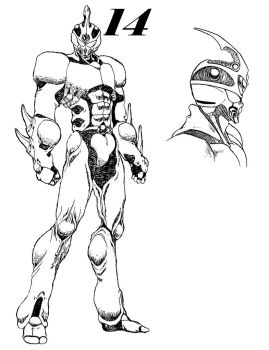 Guyver 14 Line art by lokicube