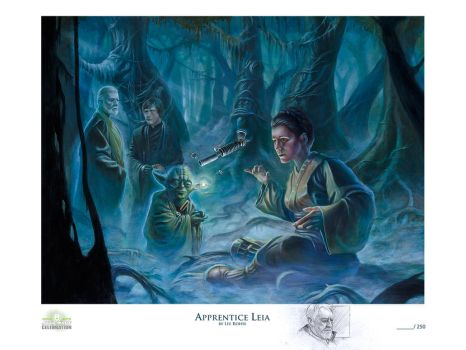 Apprentice Leia litho with Remarque by kohse