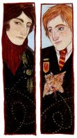 Viktor and Ron Bookmark by mokarran