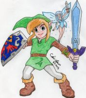 Link - A Link Between Worlds by Kisarasmoon