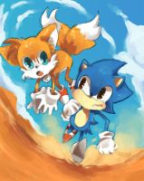 sonic and tails by nilampwns