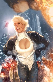 Power Girl No 1 Final Art by AdamHughes