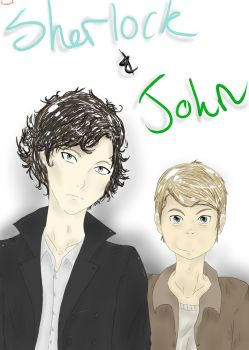 Sherlock and Watson Coloured~ by phionixwolf