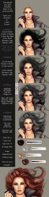Hair tutorial with brushes by StephanieVALENTIN