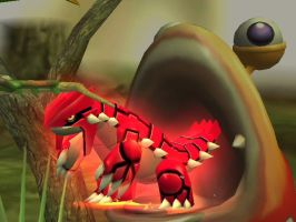 Groudon is eaten by bulborb by link23218