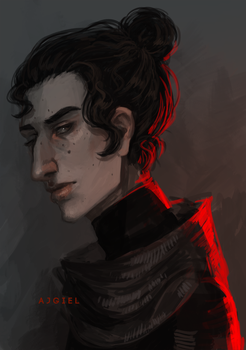 Kylo with bun by Ajgiel