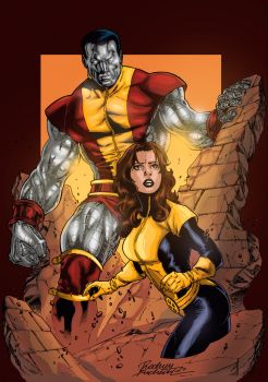 Kitty and Colossus by Motauk