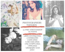 Professional Photoshop Actions Toolbox Set I by Karolina-Borkowski