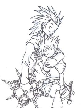 Axel and Sora by WineMaster5000