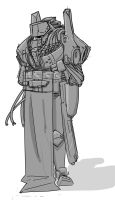 Rough sketch - AI trooper by VoughtVindicator