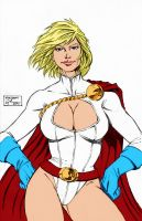 Power Girl Sketch For Drawlaahhh By Sheldongoh by Kenkira