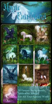 Magic FairyLand backgrounds by moonchild-ljilja