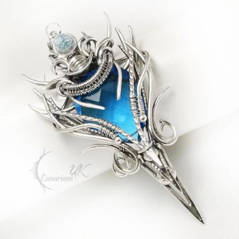 ELLENTURX Silver, Topaz and Quartz by LUNARIEEN
