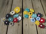 Fabric Flower Hair Clips by Ghost-Apple