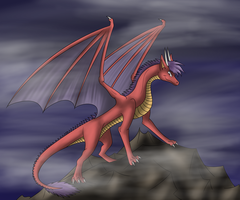 Evil Dragon (commision) by Tomek1000