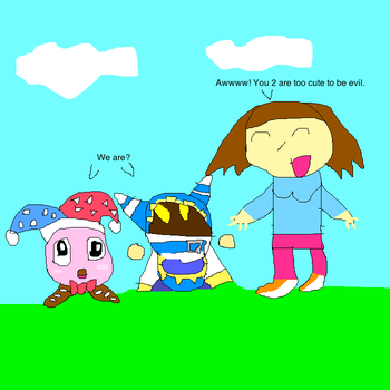 Myself meeting Marx and Magolor by imthecutest1238