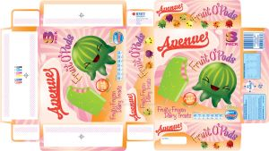 Ice Cream Packaging Template by Skele-kitty