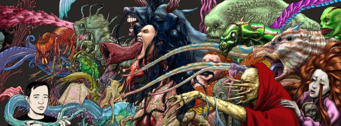 Me and Some Monsters, Now in Technicolor by TickleMeCthulhu