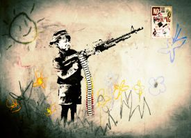Banksy by raygcreative
