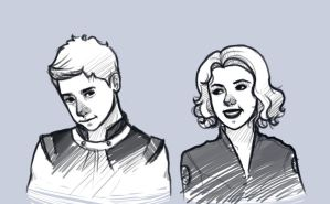 Avengers: Hawkeye and Black Widow by MelodyMoore