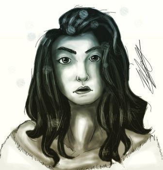 Day 17: Lorde by LunacyInArt