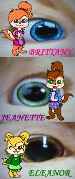 The Chipettes's Eyes by strawhatcrew96