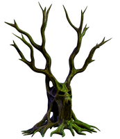 Spooky Tree 06 PNG Stock by Roy3D