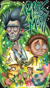 Rick and Morty poster by Torish-Art