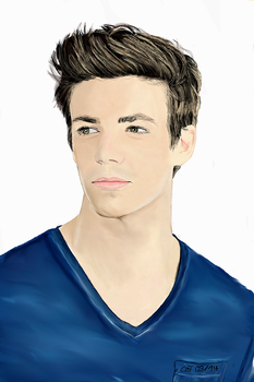 Grant Gustin by marvellous-monkey