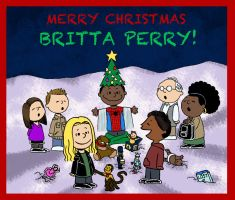 Merry Christmas Britta Perry by BRENDANSULEIMAN