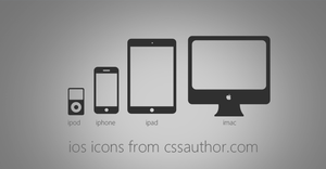 Excellent iOS Devices Icons PSD for Free Download  by cssauthor